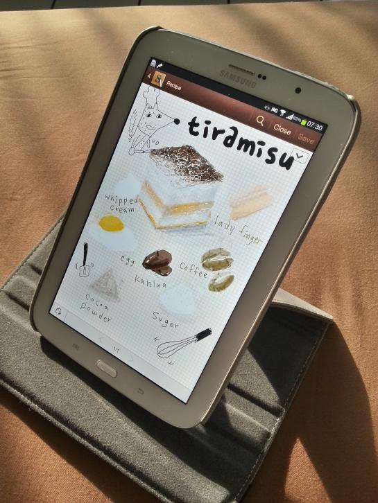 Olah ide resep? Samsung juga udah nyiapin template nya.