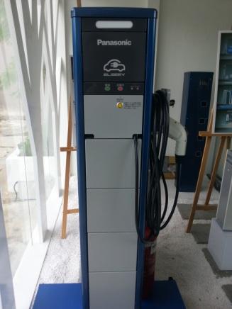 Untuk ngecharge mobil listrik.