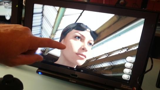Pamer kemampuan SnapDragon menampilkan animasi 3D realtime.