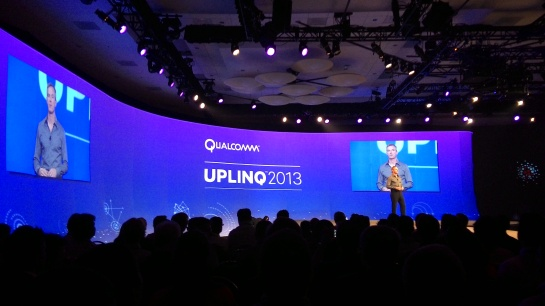 Paul Jacobs, CEO Qualcomm Inc membuka keynote nya di Uplinq 2013