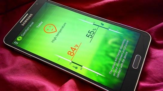 Mengukur tingkat kenyamanan ruang untuk berolahraga. Hadir di Galaxy S4 dan Note 3.