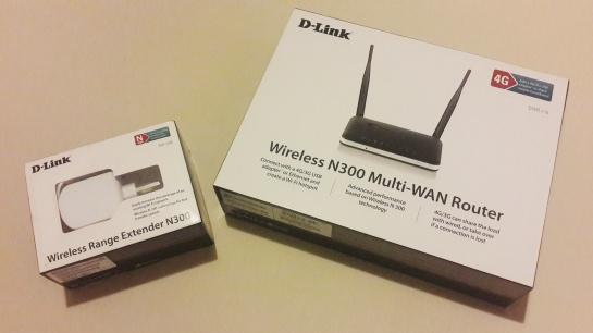 Router & Range Extender D-Link DWR-116 dan DAP-1320